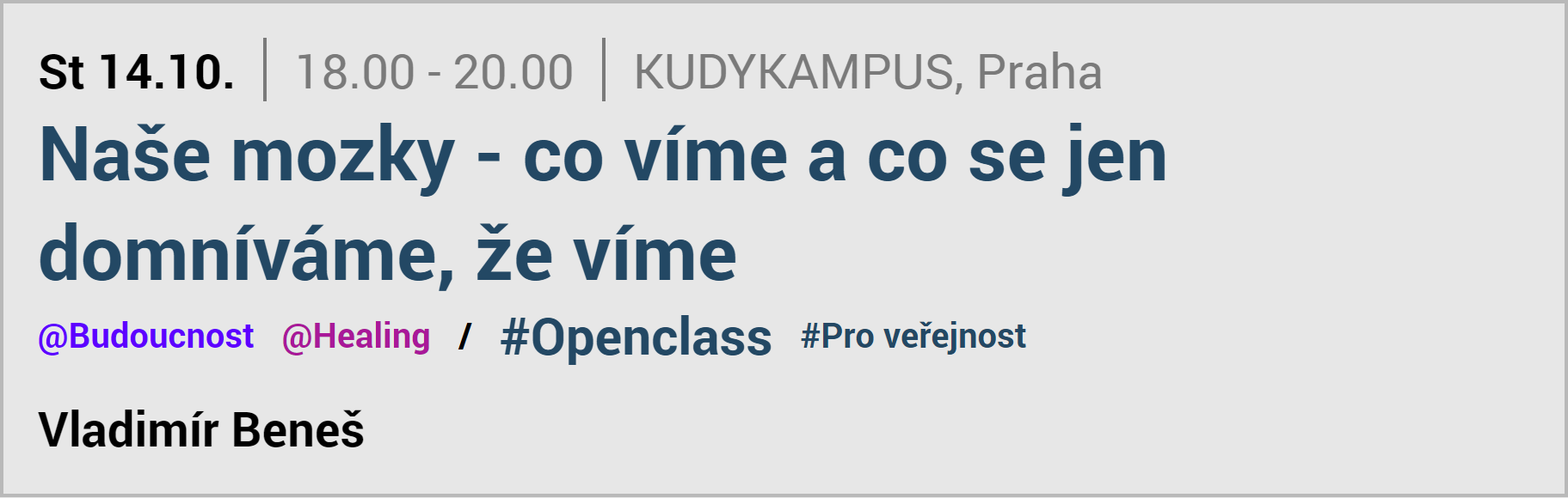 OPENCLASS event